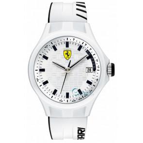 Ferrari pulseira de relogio SF101.6 / 0830124 / SF689300071 / Scuderia Silicone Branco 22mm