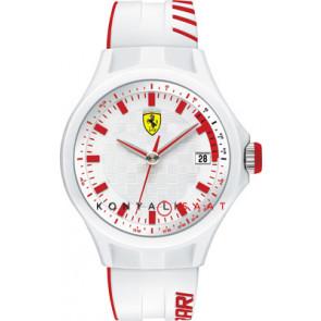 Ferrari pulseira de relogio SF101.6 / 0830127 / SF689300079 / Scuderia Borracha Branco 22mm