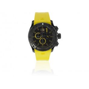 Edox pulseira de relogio 10020 37N NJ2 Borracha Amarelo