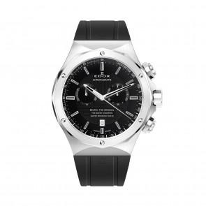 Edox pulseira de relogio 10107-RUB Borracha Preto