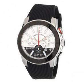 Esprit pulseira de relogio ES101681006 Borracha Preto 22mm