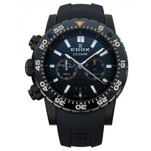 Pulseira de relógio Edox 10301 / Loc-22 Borracha Preto