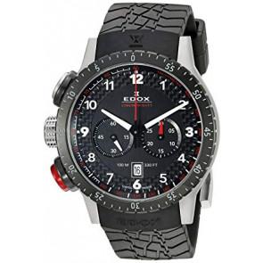 Pulseira de relógio Edox 10305 Borracha Preto 23mm
