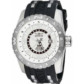 Pulseira de relógio Invicta 10681.01 Borracha Preto