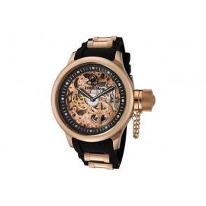Pulseira de relógio Invicta 1090.01 / 10136.01 / 17267.01 Borracha Preto