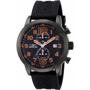 Pulseira de relógio Invicta 11244.01 Borracha Preto 24mm