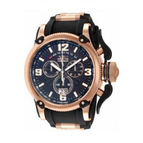 Pulseira de relógio Invicta 12434 Silicone Preto 26mm