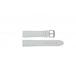 Police pulseira de relogio 12898JS-02A Couro Branco 22mm + costura branca