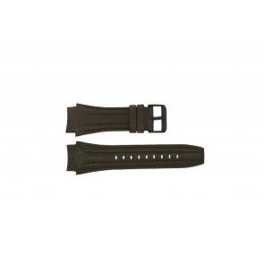 Police pulseira de relogio 13891JSB-12 Couro Marrom 24mm + costura marrom