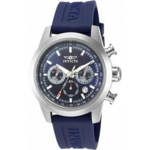 Pulseira de relógio Invicta 15200-01 Silicone Azul 22mm