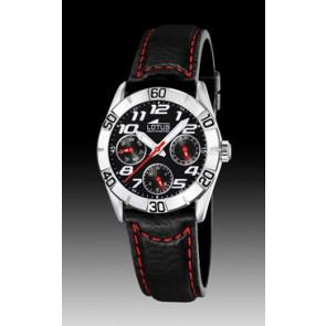 Pulseira de relógio Lorus 15651-9 Couro Preto 18mm