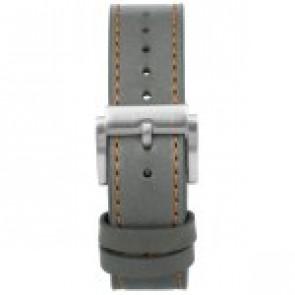 Pulseira de relógio Prisma 1591 Couro Cinza 22mm