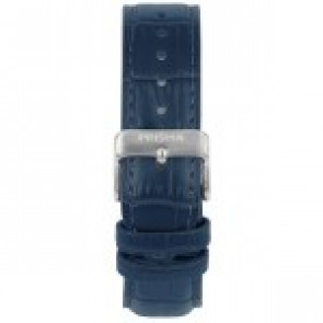 Pulseira de relógio Prisma 1601 Couro Azul 21mm