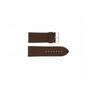 Pulseira de relógio Universal Pebro 169-30 Couro Marrom 30mm