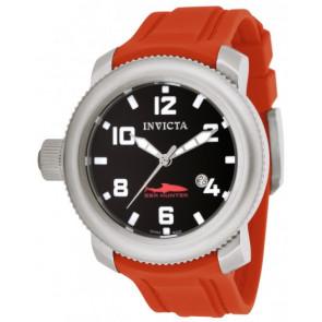 Pulseira de relógio Invicta 1691 Sea Hunter Silicone Vermelho