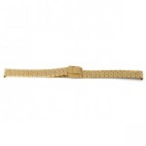 Pulseira de relógio Prisma 1691 Aço inoxidável Banhado a ouro 16mm