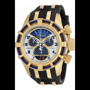 Pulseira de relógio Invicta 17465 (17465.01) Aço/Silicone Preto
