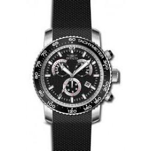 Pulseira de relógio Invicta 17773 Silicone Preto 22mm