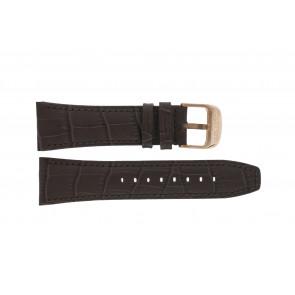 Lotus pulseira de relogio 18015 Couro Marrom 26mm + costura marrom