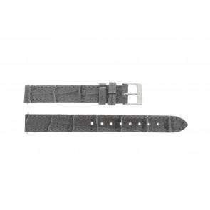 Lacoste pulseira de relogio 2000514 / LC-05-3-14-0167 Couro Cinza 13mm + costura padrão