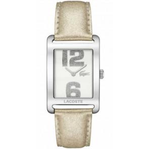 Pulseira de relógio Lacoste 2000674 / LC-51-3-14-2261 Couro Bege 20mm