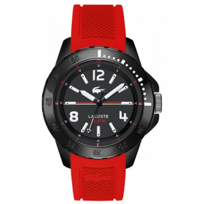 Lacoste pulseira de relogio LC-75-1-29-2467 / 2010737 / 22mm Borracha Vermelho 22mm
