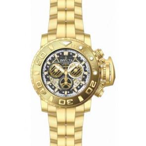 Pulseira de relógio Invicta 22132.01 Aço Banhado a ouro 30mm