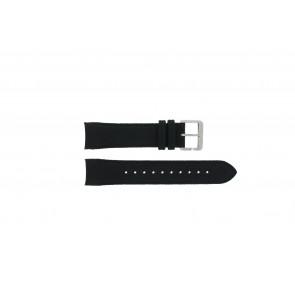 Hugo Boss pulseira de relogio HB-232-1-27-2731 / HB1513087 Couro Preto 22mm + costura preto