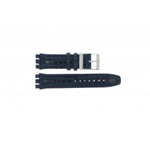 Pulseira de relógio Swatch 247.11M Couro Azul 20mm