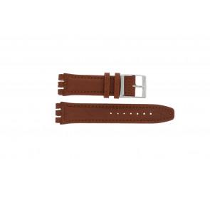 Pulseira de relógio Swatch 247.02PL Couro Marrom 20mm