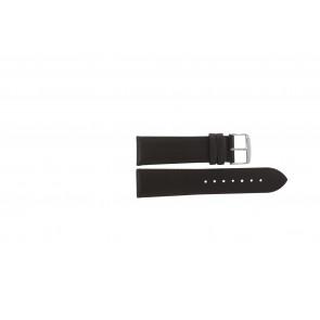 Bracelete em pele genuína castanho escuro 24mm PVK-283