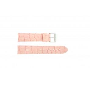 Pulseira de relógio Universal 285.14 Couro Rosa 20mm