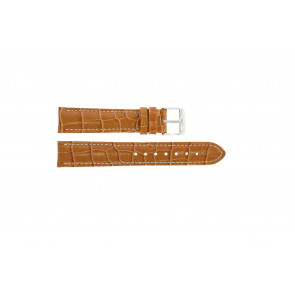 Bracelete em pele genuína motivos crocodilo castanho 20 mm PVK-285