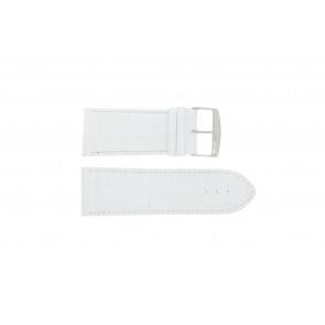 Pulseira de relógio Universal 305.09 Couro Branco 30mm