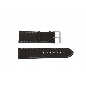 Pulseira de relógio Universal 307.02 Couro Marrom 24mm