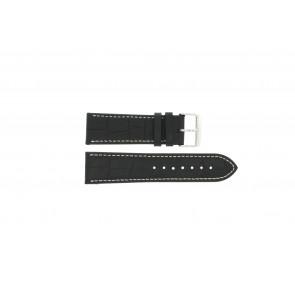 Pulseira de relógio Universal 308L.01 XL Couro Preto 20mm
