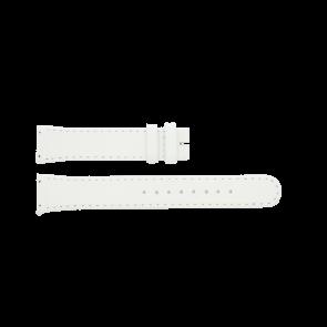 Boccia pulseira de relogio BO3186-01-40W Couro Branco 19mm + costura padrão
