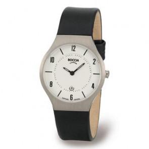 Pulseira de relógio Boccia 3193-01 (BO811 X367S16) Couro Preto 15mm