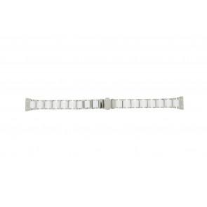 Boccia pulseira de relogio 3261-01 Aço/Silicone Prata 16mm