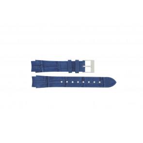 Prisma pulseira de relogio 33 832 117 Couro Azul 14mm + costura azul