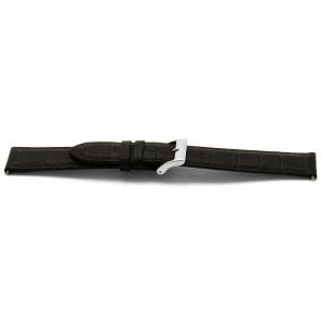 pulseira de couro genuíno marrom 16mm EX-E332