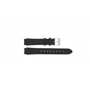 Prisma pulseira de relogio 33 832 117 Couro Preto 14mm + costura preto