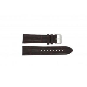 Prisma pulseira de relogio 33C631012 Couro Marrom 22mm + costura marrom