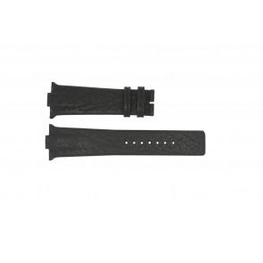 Pulseira de relógio Boccia 3519-02 / 3519-03 Couro Preto 28mm