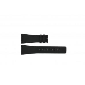 Boccia pulseira de relogio 3541-02 Couro Preto 20mm