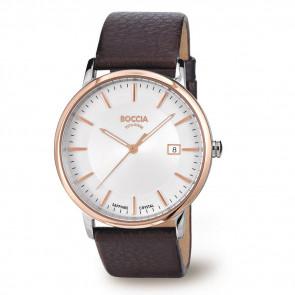 Pulseira de relógio Boccia 3557-04 Couro Marrom 21mm
