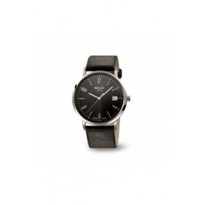 Pulseira de relógio Boccia 3557-01 / 3557-02 / 3557 / 811 X410S21 Couro Preto 21mm