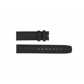 Boccia pulseira de relogio 3771-01 Couro Preto 20mm + costura padrão