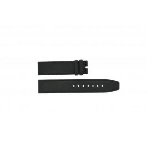 Boccia pulseira de relogio 3780-01 Couro Preto 20mm + costura padrão