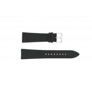 Pulseira de relógio Junghans 42050-4963 / 030/4942.00/222987 Couro Preto 22mm